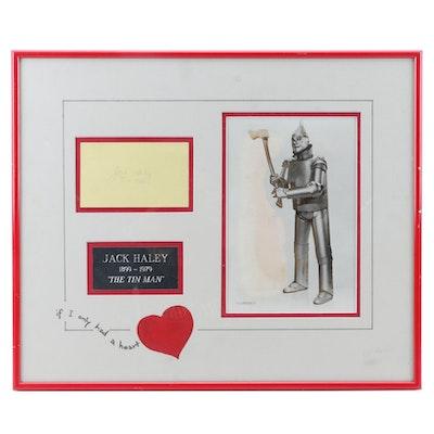 "Jack Haley Autograph Cut ""Wizard of Oz Tin Man"" Framed Photo Print Display"