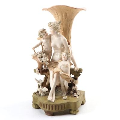 Ernst Wahliss Austrian Figural Porcelain Vase