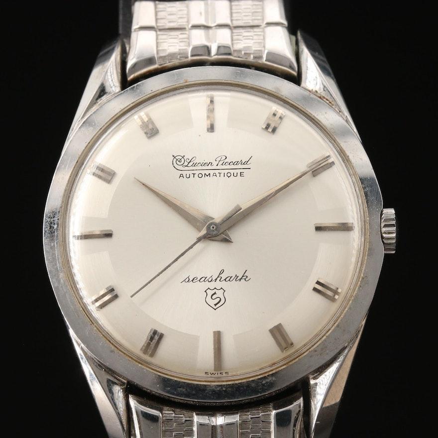 "Lucien Piccard ""Seashark"" Stainless Steel Wristwatch"