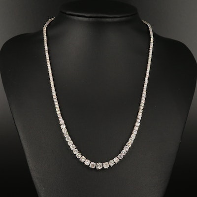 14K 11.77 CTW Diamond Graduated Rivière Necklace