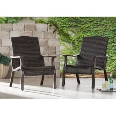 """Pair of Member's Mark """"Agio Heritage Collection"""" Woven Adirondack Chairs"""