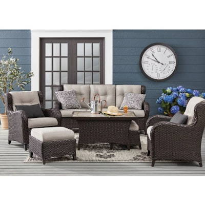 "Member's Mark ""Agio Heritage"" 6-Piece Deep Seating Set with Sunbrella Cushions"