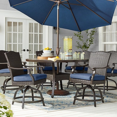 """Member's Mark """"Agio Heritage Collection"""" 7-Piece Balcony-Height Patio Dining"""