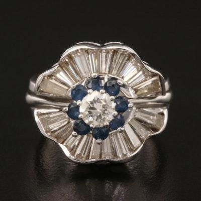 14K 1.42 CTW Diamond and Sapphire Ring Set