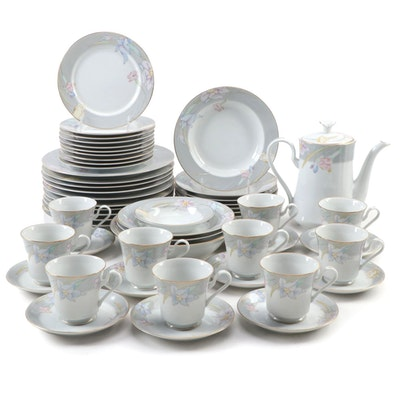 "Mikasa ""Charisma Gray"" Bone China Dinnerware, Late 20th Century"