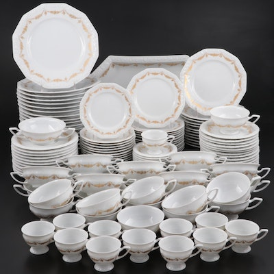 "Rosenthal Germany ""Maria"" Gilt Garland Bone China Dinnerware"