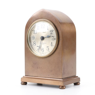 Seth Thomas Calgary Bronze Desk Clock, Early 20th Century
