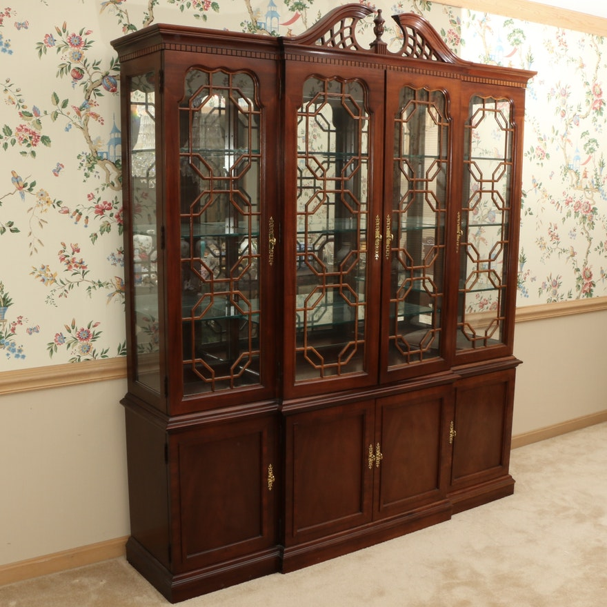 Thomasville Chippendale Style Mahogany China Cabinet