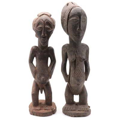 Luba-Hemba Inspired Handcrafted Wood Figures