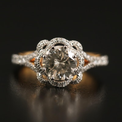 Verragio 18K 1.57 CTW Diamond Ring