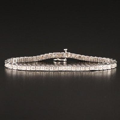 14K 4.10 CTW Diamond Line Bracelet