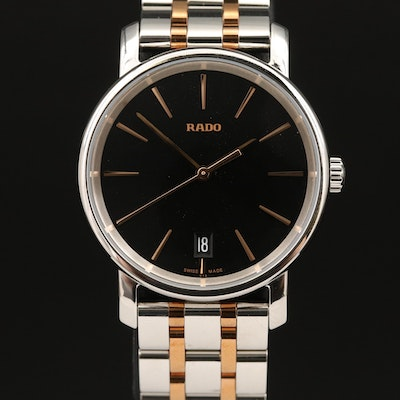 "Rado ""DiaMaster"" Two-Tone Stainless Steel Quartz Wristwatch"