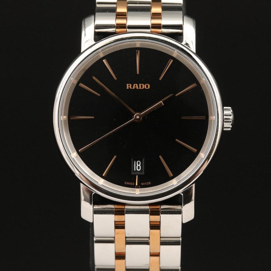 """Rado """"DiaMaster"""" Two-Tone Stainless Steel Quartz Wristwatch"""