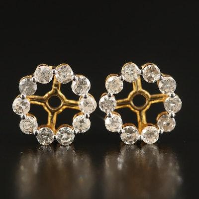 10K 1.64 CTW Diamond Earring Jackets