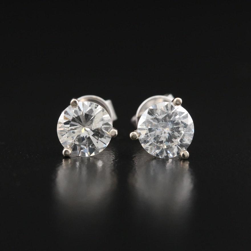 14K 1.93 CTW Diamond Stud Earrings
