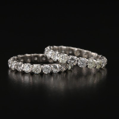 Platinum 2.80 CTW Eternity Bands