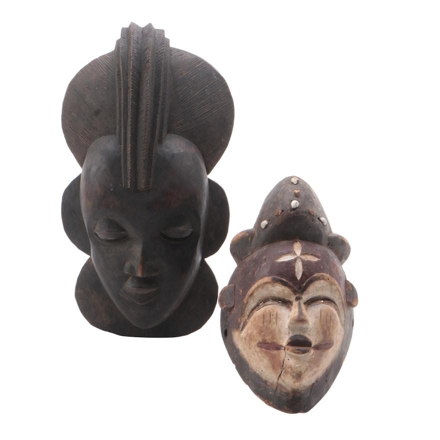 Vuvi Inspired and Benin Inspired Wood Masks