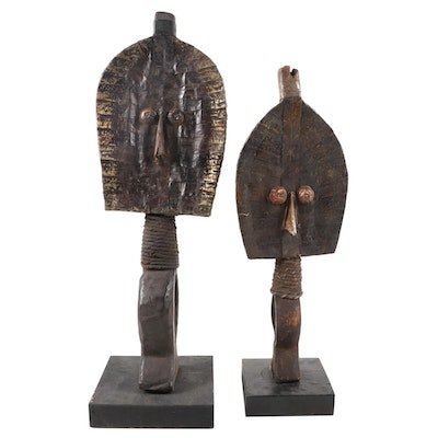 Kota-Mahongwe Style Reliquary Figures, Central Africa