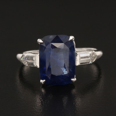 Bailey, Banks & Biddle 6.97 CT Ceylon Sapphire and Diamond Ring GIA Report