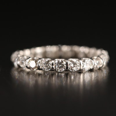 Platinum 1.10 CTW Diamond Eternity Band