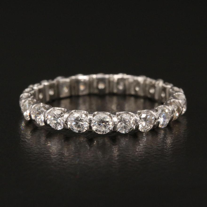 Platinum 1.10 CTW Diamond Eternity Band