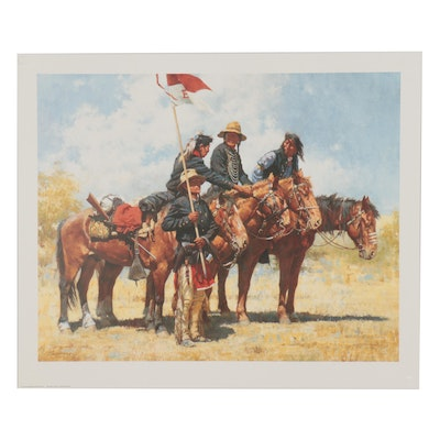 "Howard Terpning Offset Lithograph ""Army Regulations"""