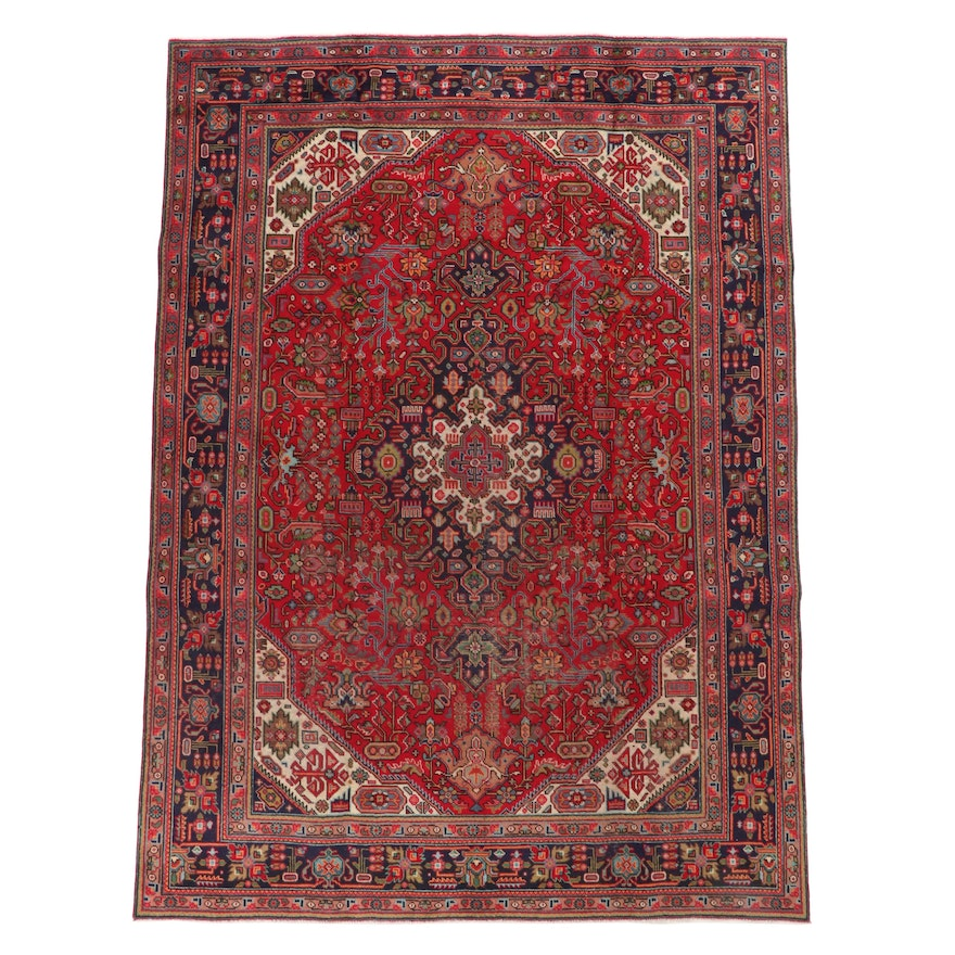 7'10 x 10'10 Hand-Knotted Persian Tabriz Wool Area Rug