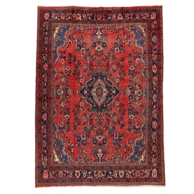 7' x 10' Hand-Knotted  Persian Hamadan Area Rug
