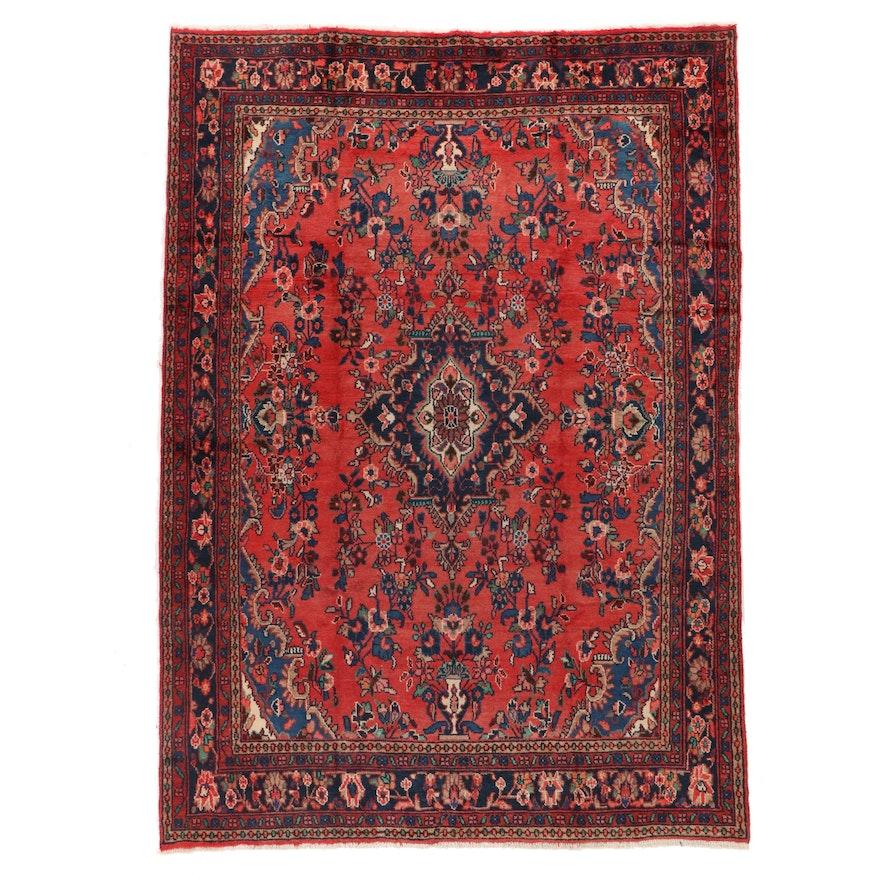 7' x 10' Hand-Knotted  Persian Hamadan Area Rug