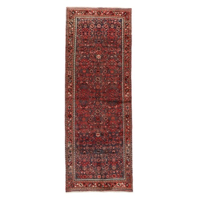 3'8 x 10'3 Hand-Knotted Northwest Persian Herati Long Rug
