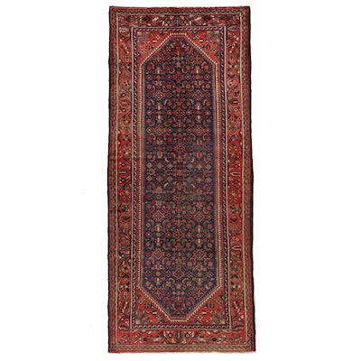 4' x 9'7 Hand-Knotted Northwest Persian Herati Long Rug