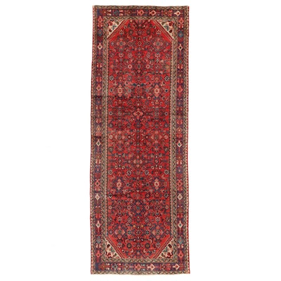 3'7 x 9'11 Hand-Knotted Northwest Persian Herati Long Rug
