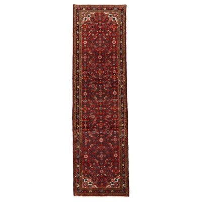 2'8 x 9'3 Hand-Knotted Northwest Persian Herati Carpet Runner
