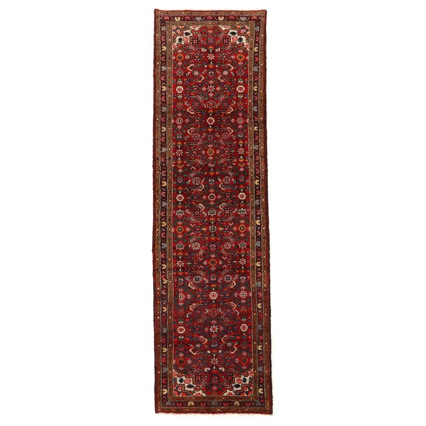 2'8 x 9'3 Hand-Knotted Northwest Persian Herati Carpet Runner