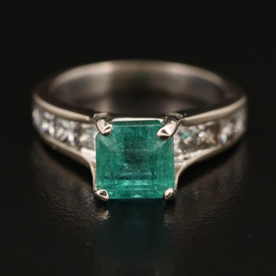 14K 2.35 CT Emerald and 1.42 CTW Diamond Ring with GIA Emerald Report