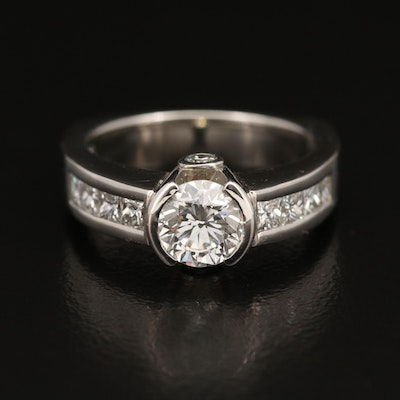 Platinum 1.82 CTW Diamond Ring