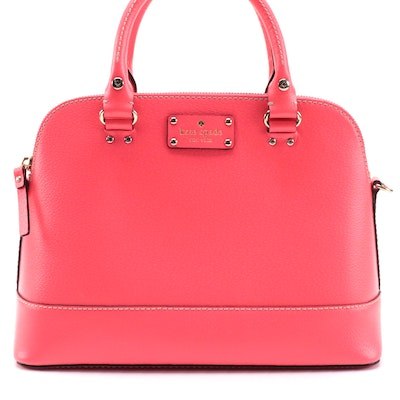 Kate Spade Pink Leather Two-Way Top Handle Bag