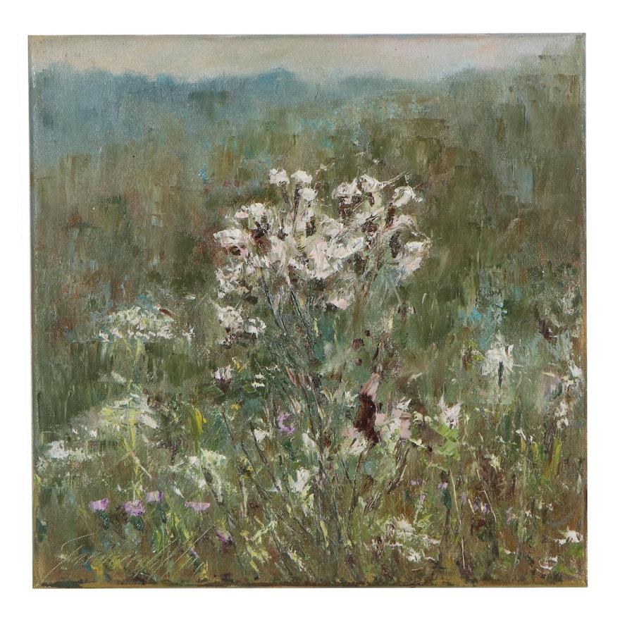 "Garncarek Aleksander Landscape Oil Painting ""Osty,"" 2021"