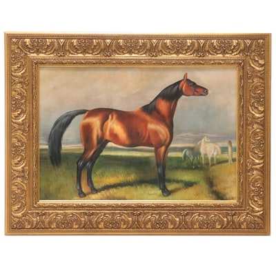 "Oil Painting ""Beauty of the Pasture,"" 21st Century"