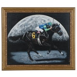 "Pat DeLong Acrylic Painting after Gennia Cui ""Declan's Moon,"" 2006"