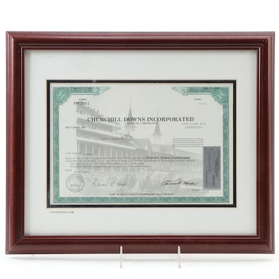 Churchill Downs Incorporated Stock Certificate, 2004