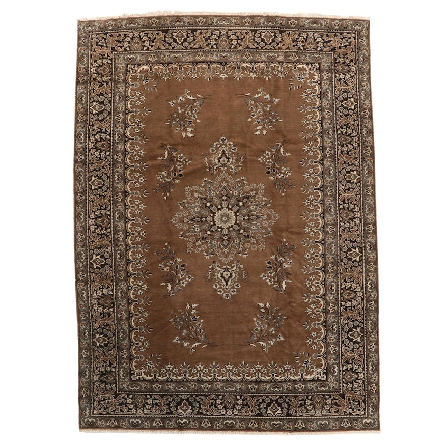 8' x 11'5 Hand-Knotted Indian Wool Area Rug