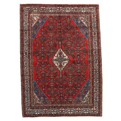 6'9 x 9'8 Hand-Knotted Northwest Persian Wool Area Rug