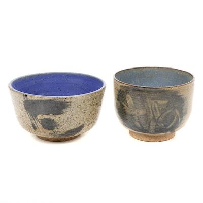 Paul Bogatay Studio Pottery Bowls, 1967–1968