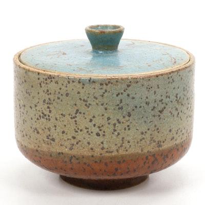 Paul Bogatay Studio Pottery Lidded Bowl, 1971