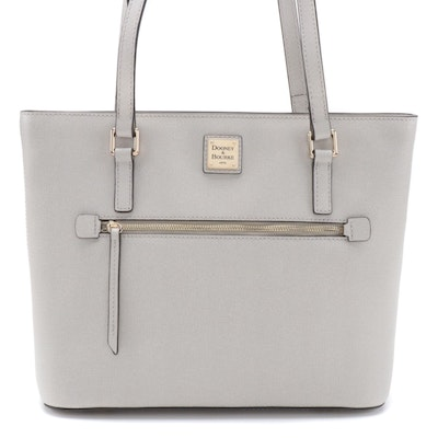 Dooney & Bourke Shopper Tote in Ecru Saffiano Leather