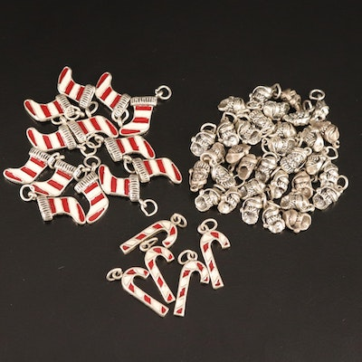 Sterling Silver Christmas Themed Charms