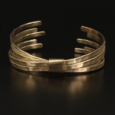 Unsigned Hammered Bow Cuff