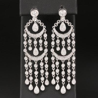 18K 1.36 CTW Diamond Chandelier Earrings