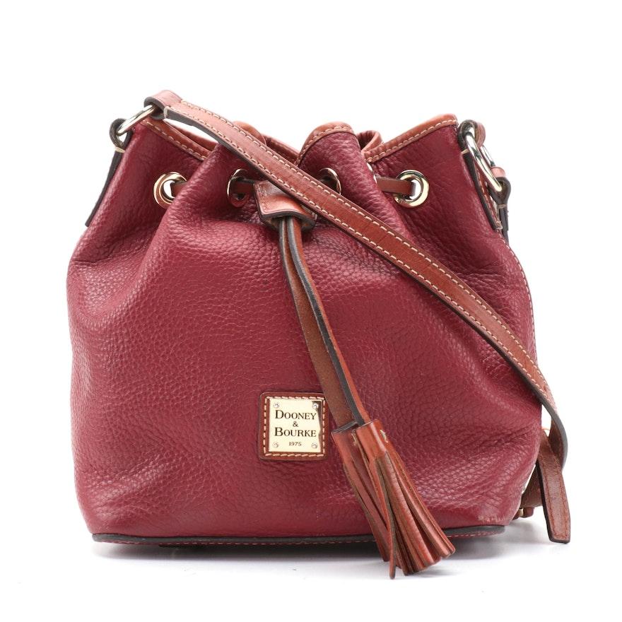Dooney & Bourke Kendall Crossbody Bag in Bordeaux Pebble Grain Leather